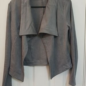 Gray swade jacket,